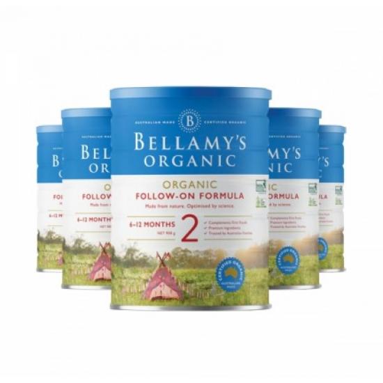 Bellamy's 贝拉米婴幼儿有机牛奶粉 2段 新包装22年1月到期【澳洲直邮】 【6罐包邮】因海关要求邮寄必须提供身份证信息,不提供不发货