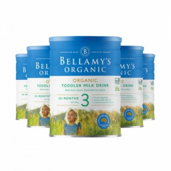 Bellamy's 贝拉米婴幼儿有机牛奶粉 3段 新包装22年1月到期【澳洲直邮】 【6罐包邮】因海关要求邮寄必须提供身份证信息,不提供不发货
