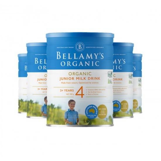 Bellamy's 贝拉米婴幼儿有机牛奶粉 4段 新包装 22年1月到期【澳洲直邮】 【6罐包邮】因海关要求邮寄必须提供身份证信息,不提供不发货