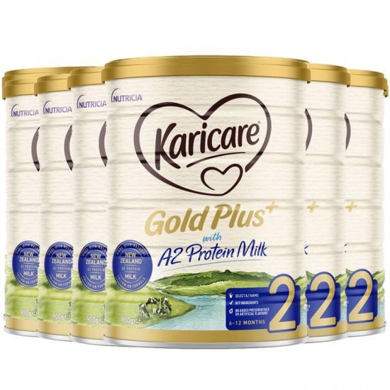 Karicare 可瑞康金装A2 二段 900g 六罐 (升级版)2022年7月