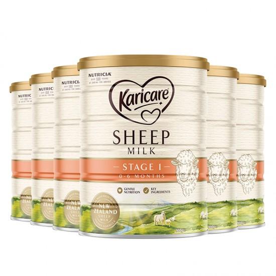 KARICARE SHEEP MILK 绵羊奶 1段【6罐包邮】因海关要求邮寄必须提供身份证信息,不提供不发货