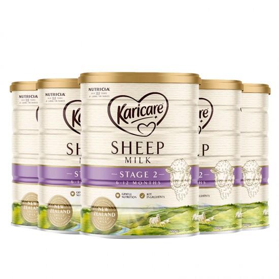 KARICARE SHEEP MILK 绵羊奶2 段【6罐包邮】因海关要求邮寄必须提供身份证信息,不提供不发货