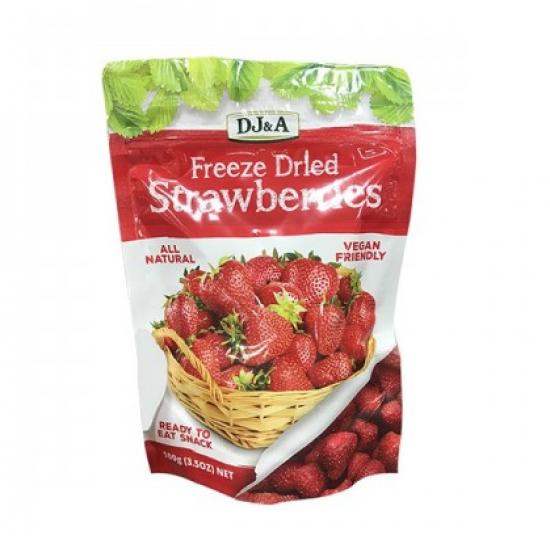 DJ&A 草莓干小零食100g 健康小零食,无防腐剂添加,纯天然草莓干,好吃